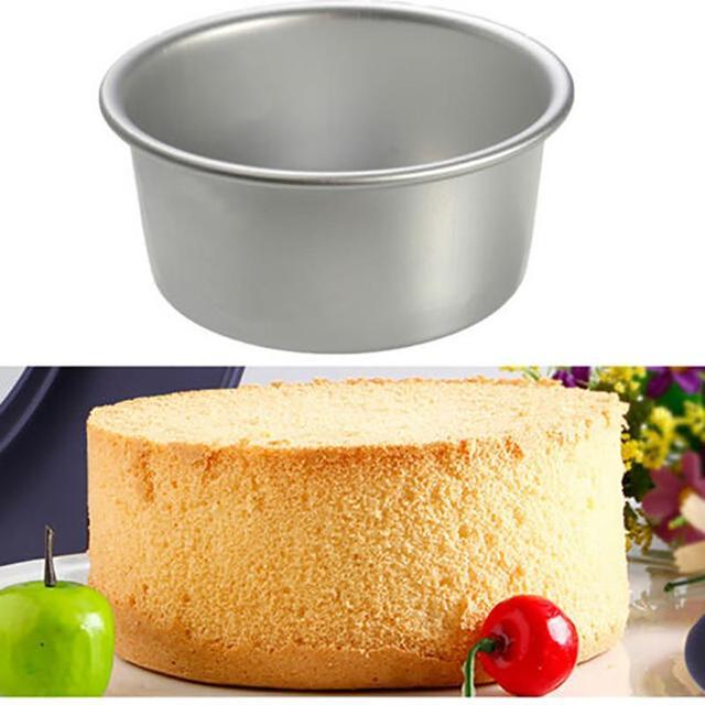 4″ Aluminum Alloy Round Cake Baking Mould Pan Tin Mold Tray Bakeware Tool high quality Round Cake Pan