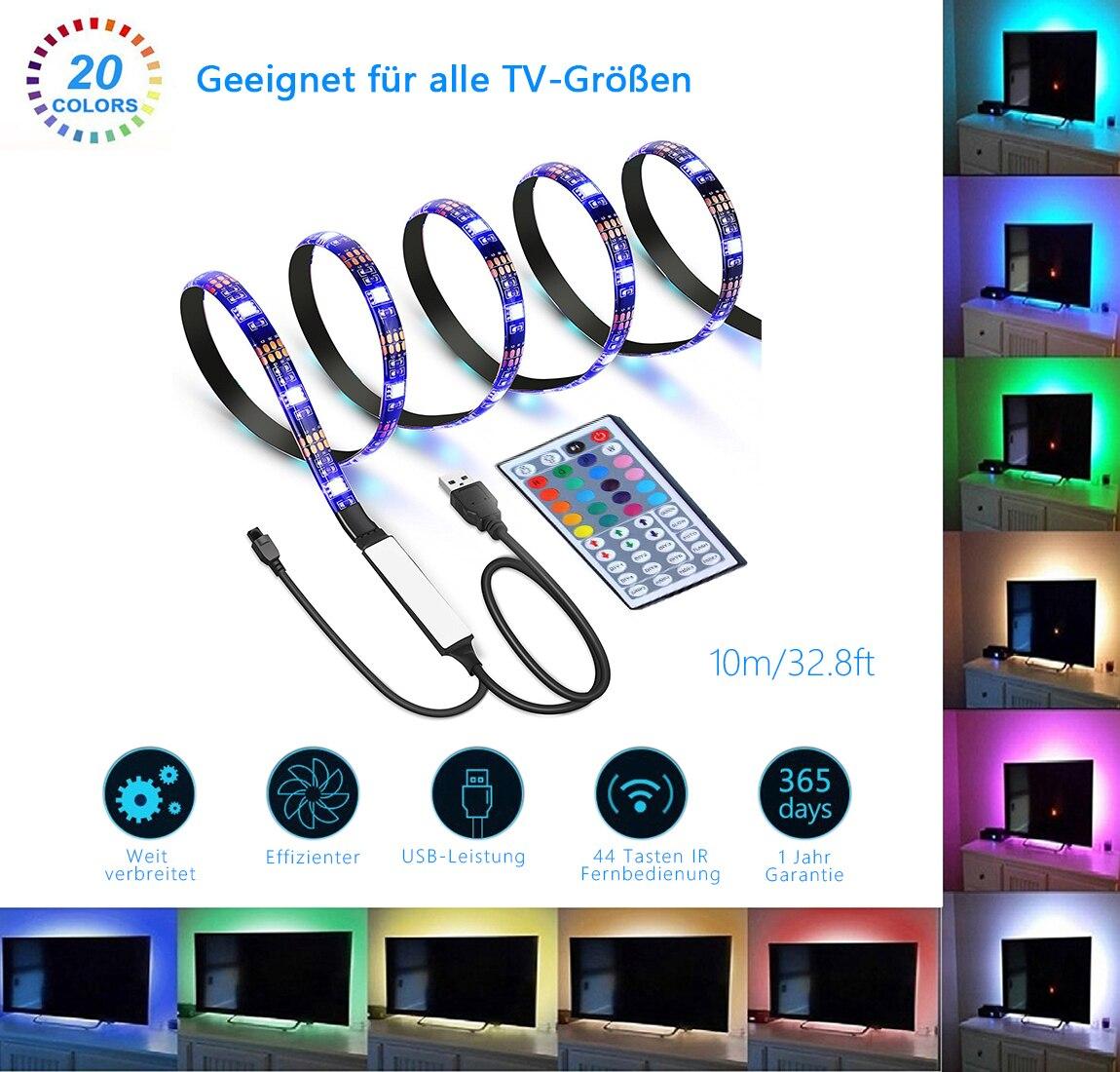 1 pc SMD 5050 RGB LED bande étanche 10 M 300 LED DC 12 V lumière LED bandes flexibles néon bande Monochrome UK/EU prise - 3