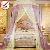 Colorblocking Dome Moskito Net Bett Baldachin Prinzessin Königin Moskito Net Bett Zelt Boden Länge Vorhang # WW-in Moskitonetz aus Heim und Garten bei