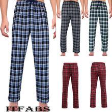 Новые мужские дамские Модные свободные штаны для сна, Клетчатые Фланелевые штаны для отдыха/пижамы, пижамные штаны, размер M-2XL, повседневные штаны