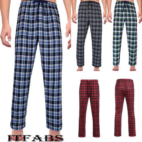 New Men's Ladies Fashion Loose Sleep Bottoms Plaid Flannel Lounge/Pajama PJ Pants Size M-2XL Bottoms Casual Pants