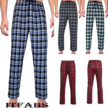 New Men's Ladies Fashion Loose Sleep Bottoms Plaid Flannel