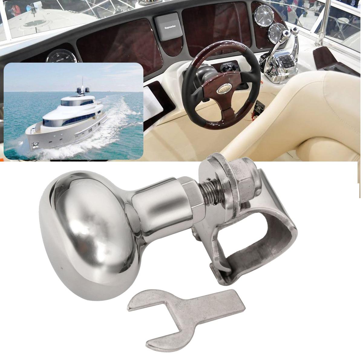 Marine 316 Stainless Steel Steering Wheel Knob Wheel Power Handle Ball Grip Knob Turning Helper Hand Control Marine Boat Yact Marine Hardware     -