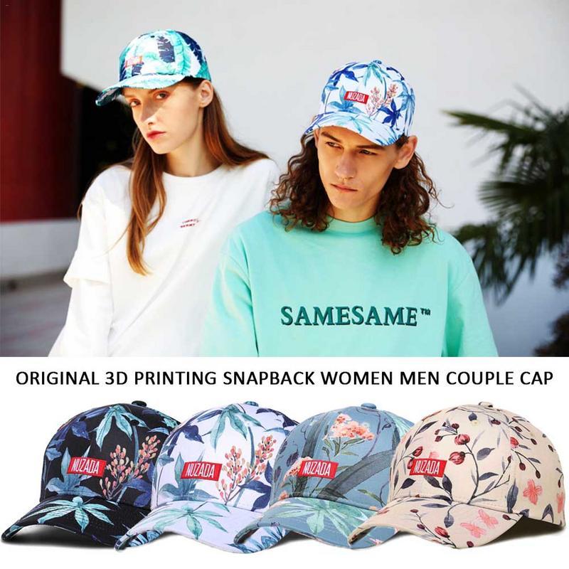 2019 Sommer Mode Druck Baseball Caps Einstellbare Hip Hop Hüte Im Freien Angeln Laufen Reiten Sonnencreme Hut Unisex Caps