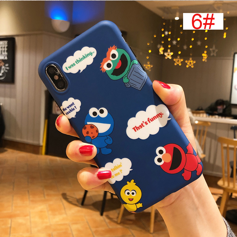 Cute Winnie Pooh Stitch tom Sesame Street Case for iPhone X XS 6 6S 7 8 Plus X XS Cover phone cases Leopard print love in Fitted Cases from Cellphones Telecommunications