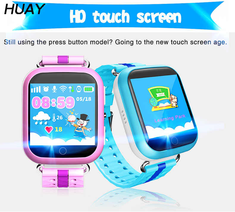"Kids GPS tracker Watch Q100 touch screen 1.54"" SOS Call Finder Locator Trackeing Anti Lost children Smart Wristwatch Q750 1pcs"