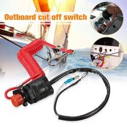 Лодка двигатель предохранитель для Yamaha/Tohatsu подвесной выключатель отрезать Настенные Переключатели Переключатель и ремень безопасности