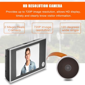 Image 3 - Mini HD Outdoor Electronic Peephole Camera Viewer 3.5in Indoor LCD Color Screen Visual 120°