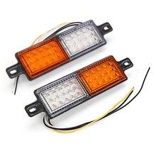 2 pces 10-30v universal caminhão reboque barra de touro amortecedor dianteiro 30 led lâmpada de luz indicadora