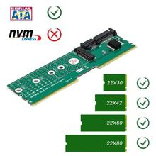 Mini SATA SSD SATA адаптер корпус с случае M.2 NGFF B-ключ SATA-Bus SSD в SATA3 адаптер слота памяти DDR Райзер карты