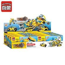 619pcs Kids Puzzle Enlighten 8In1 City Engineering Chariot Building Blocks Set DIY Bricks Toys for Children Great Gifts