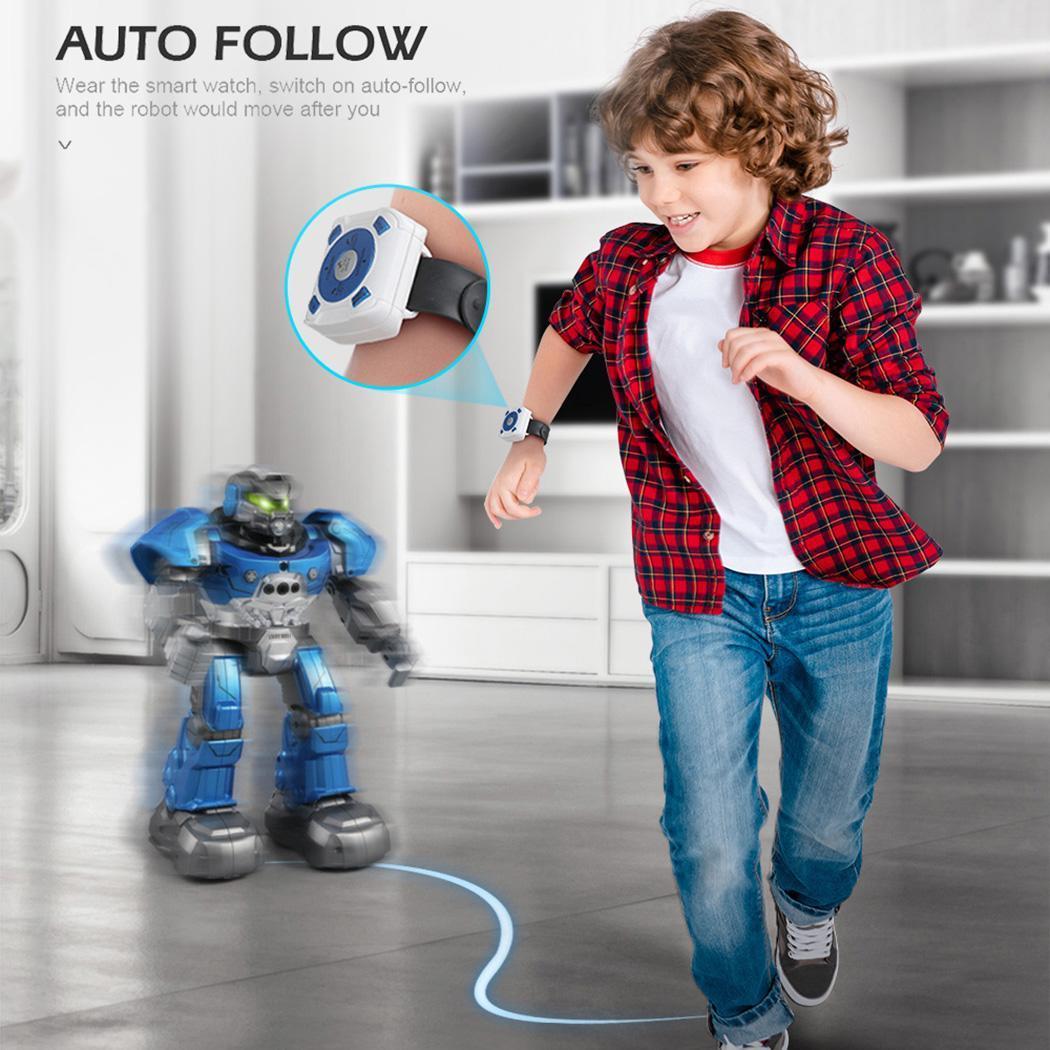 Enfants robot Intelligent smartwatch contrôle auto Musique De Danse RC Robot Intelligent Mini facile transporter Montre Geste Capteur RC Jouets Occasionnels