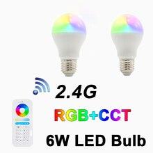 цена на 2.4G 6W RGB+CCT LED BULB,Remote control,Dual White and Color spotlight,E26/E27, AC100-240V,for Entertainment venue,DIY,KTV