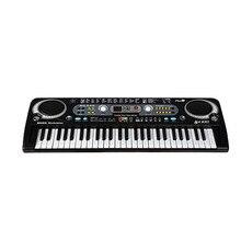 54 клавиши цифровая электронная клавиатура и микрофон Электрический светодиодный взрослый размер