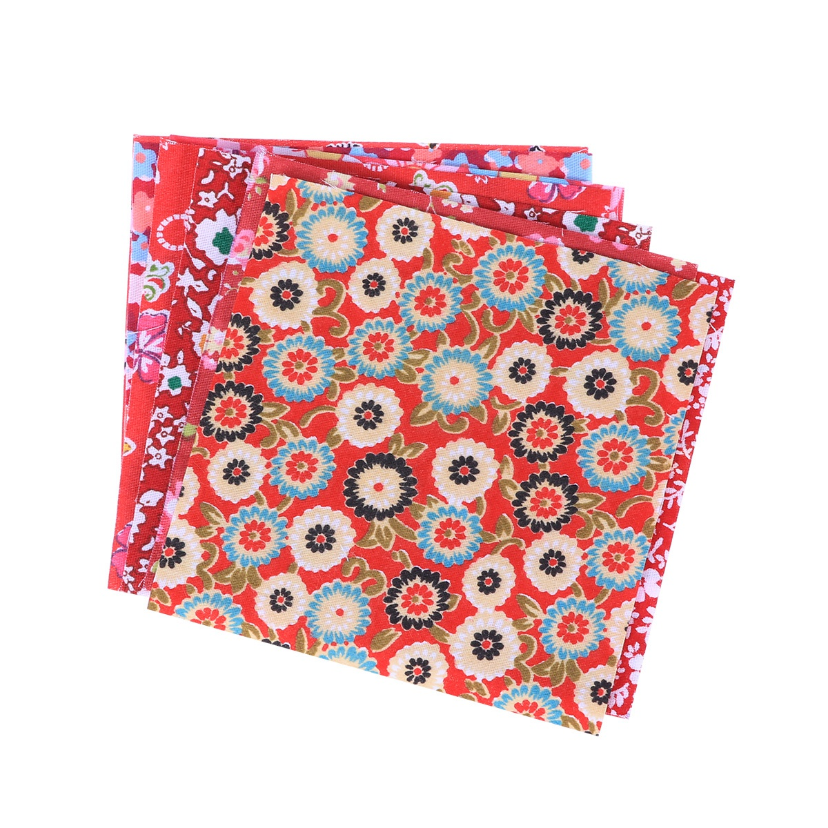 10 Pcs Cotton Twill Fabric Handmade DIY Printed Floral Cotton Cloth Fabric Printing Cloth for Patchwork Quilting Sewing