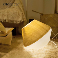Allocacoc Creative Home Lampshade Light Cover For Floor Lamp Table Light Wooden Lamp Cover Vintage Art For Living Room Lighting