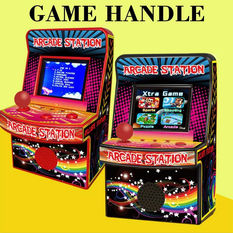MUMIAN Child Cool Treasure 883 Classic Retro MINI Arcade Handheld Game Console Built-in 240 Game Console Console