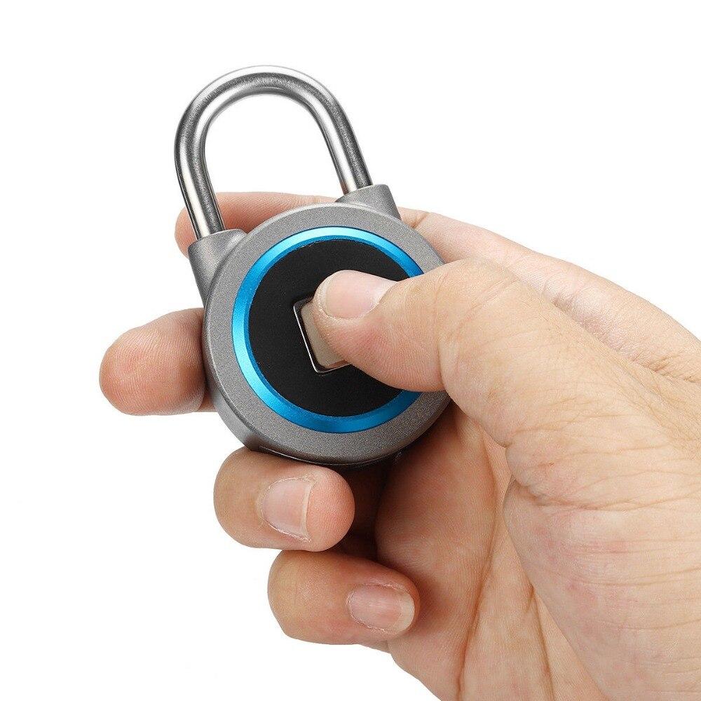 Mini serrure Bluetooth APP téléphone étanche sans clé serrure d'empreintes digitales déverrouiller Anti-vol cadenas serrure de porte pour IOS Android