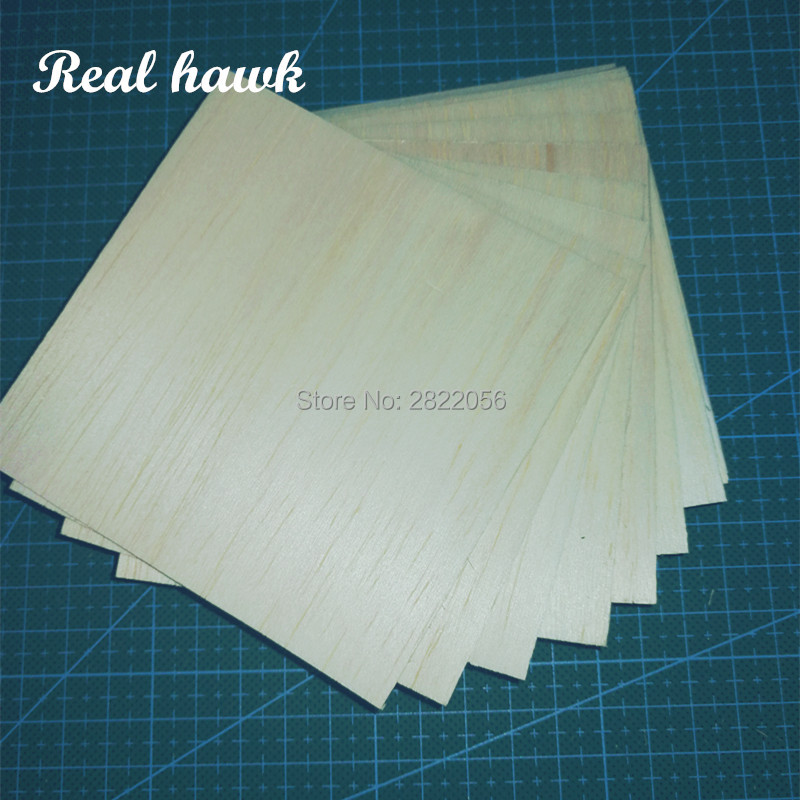 20pcs AAA+ Balsa Wood Sheets 100x100x1.5mm Model Balsa Wood For DIY RC Model Wooden Plane Boat Material