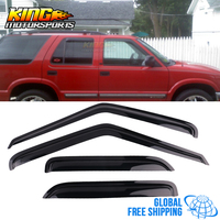 Fits 95 05 GMC S15 Jimmy Chevy S10 Blazer Acrylic Window Visors 4Pc Set Global Free Shipping