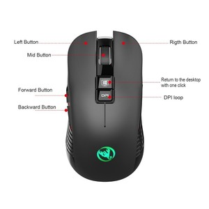 Image 3 - Wireless Mouse T30 7 Button 3600 DPI Rechargeable Mute Mouse With TYPE C Adapter USB Receiver For Macbook Laptop Gamer Gaming
