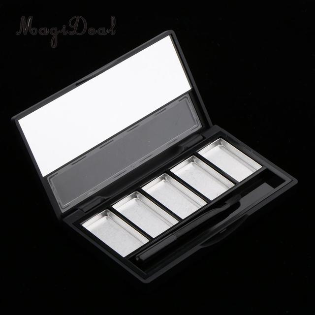 20c66fb98 MagiDeal Empty Makeup Palette Powder Eyeshadow Blush Lip Gloss DIY Case  with Mirror 5 Slots Powder Refill Makeup Palette