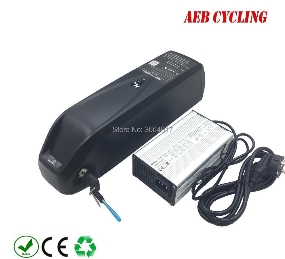 Free Shipping USB hailong down tube ebike battery 500W 750W 1000W 36v 48v 52V 15Ah 16Ah