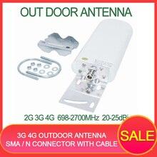 Antena externa 3g 4g de antena modem, antena 4g gsm antena 20 25dbi impulsionador de sinal de celular, modem roteador