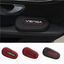 Мягкая Кожаная подушка для ног, наколенник, подлокотник для салона, автомобильные аксессуары для Kia Venga