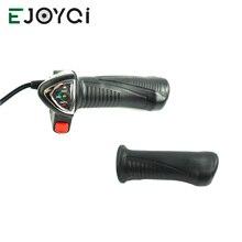 EJOYQI 62DX Ebike Твист дроссельной заслонки с индикатором батареи и выключения Электрический горный велосипед часть дроссельной заслонки ручка 5pin