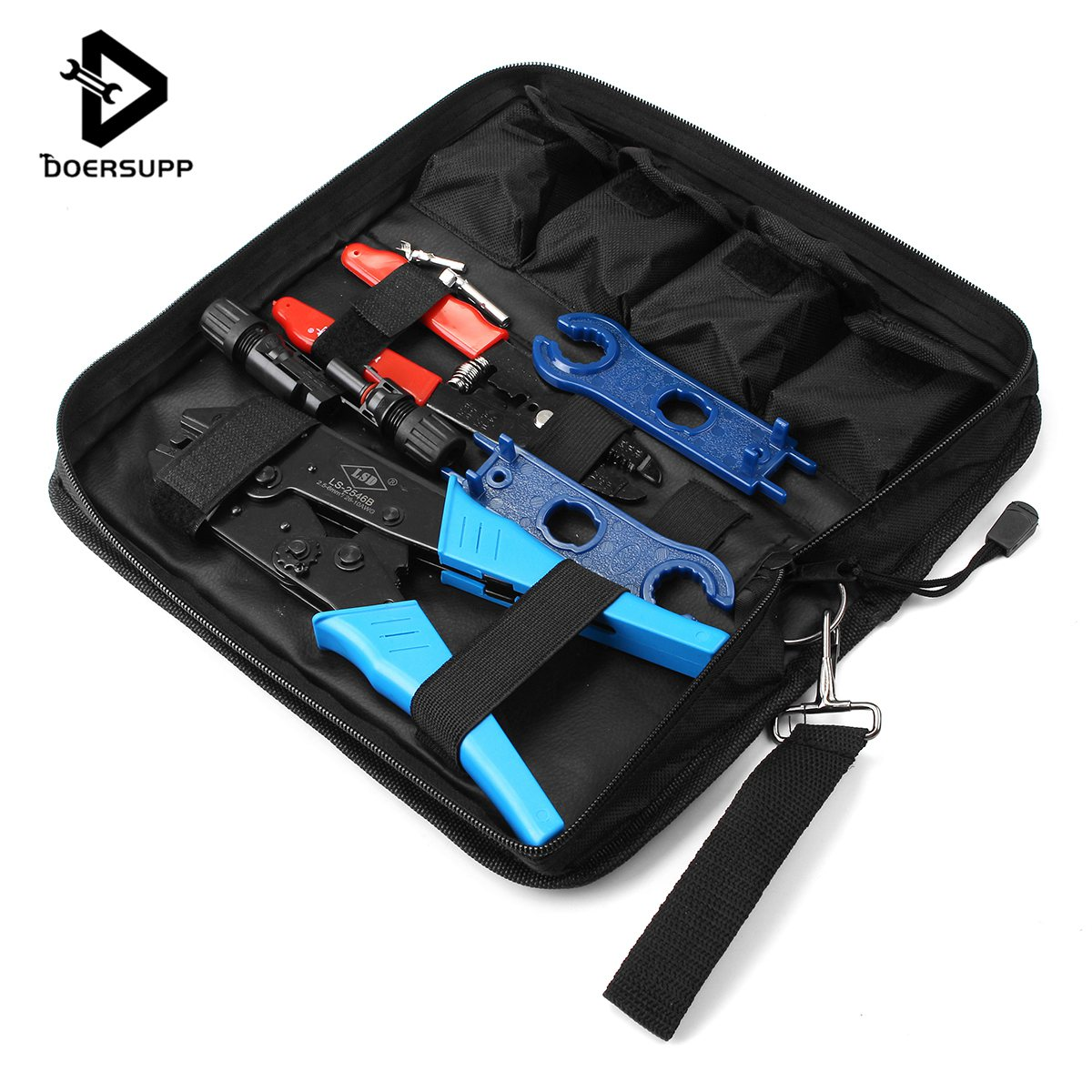 Doersupp MC4 Solar Panel Cable Crimper Connector Crimping Tool Ratcheting Pliers Set High Quality Tool SetsDoersupp MC4 Solar Panel Cable Crimper Connector Crimping Tool Ratcheting Pliers Set High Quality Tool Sets