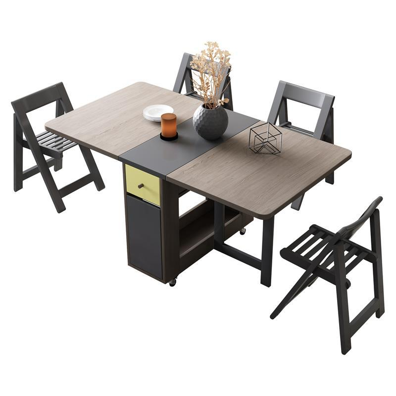 Masasi Pliante Dining Meja Makan Bureau Dinning Set Tavolo Da Pranzo Marmol Plegable Desk Mesa De Jantar Folding Dinner Table Clear-Cut Texture