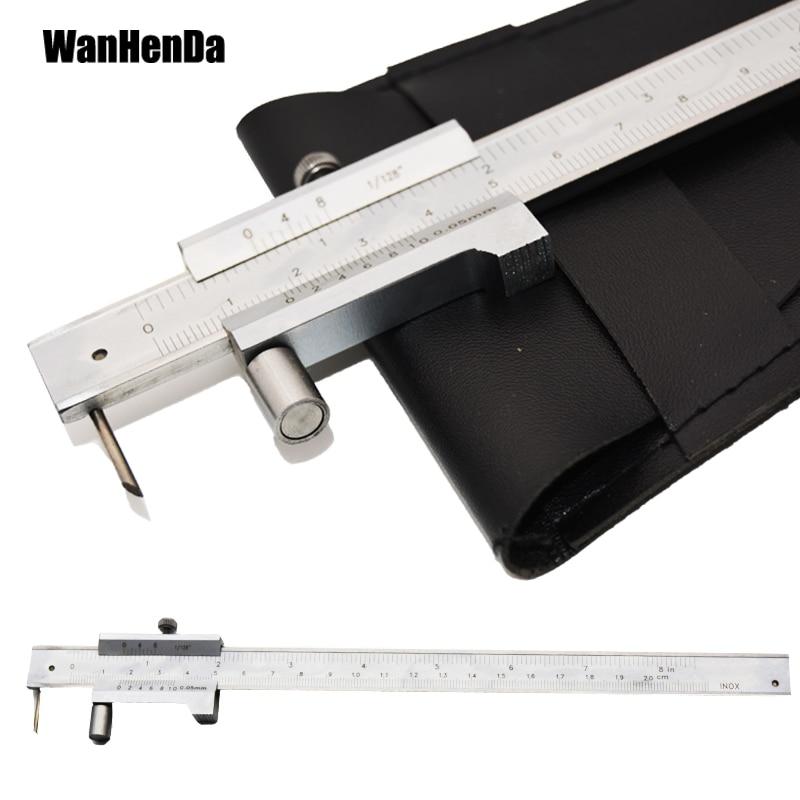 200mm metal scribe caliper mark vernier caliper and carbide scribe parallel marking gauge ruler measuring instrument tool