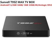 SUNVELL T95Z MAX Android 7.1 TV Box 2GB/3GB 16GB/32GB Amlogic S912 2.4GHZ+5GHZ Dual WiFi Bluetooth4.0 Smart 4 K Set Top Box