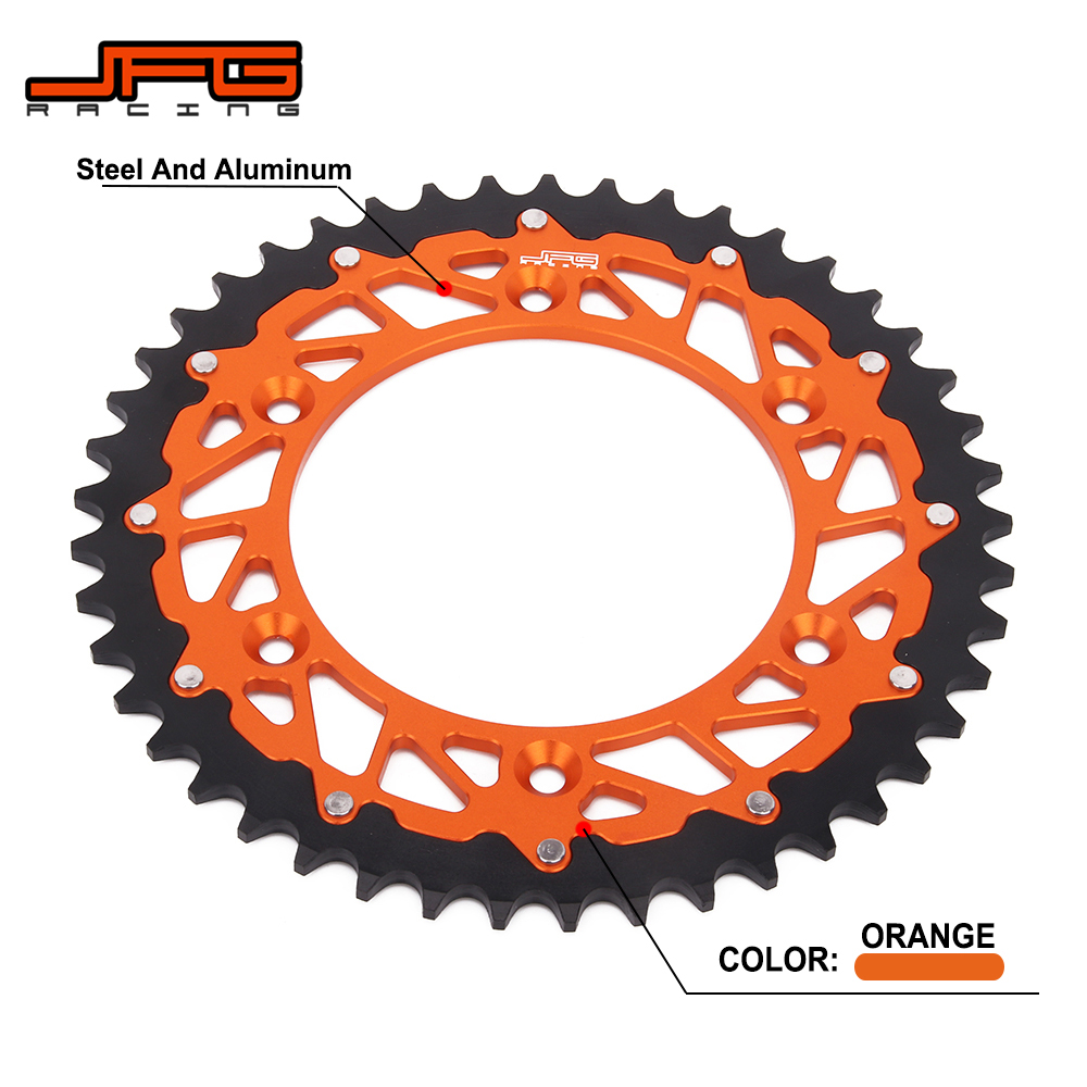 42T 45T <font><b>48T</b></font> 50T 52T Rear Chain <font><b>Sprocket</b></font> For KTM EXC SX XC XCW XCF SMR SXF XCFW 125 150 200 250 300 350 450 525 530 660 690 image