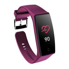 V18 Color Screen Bluetooth Sports Heart 0.96 Hband Rate Blood Pressure KX023-1025 Waterproof Smart Bracelet(China)