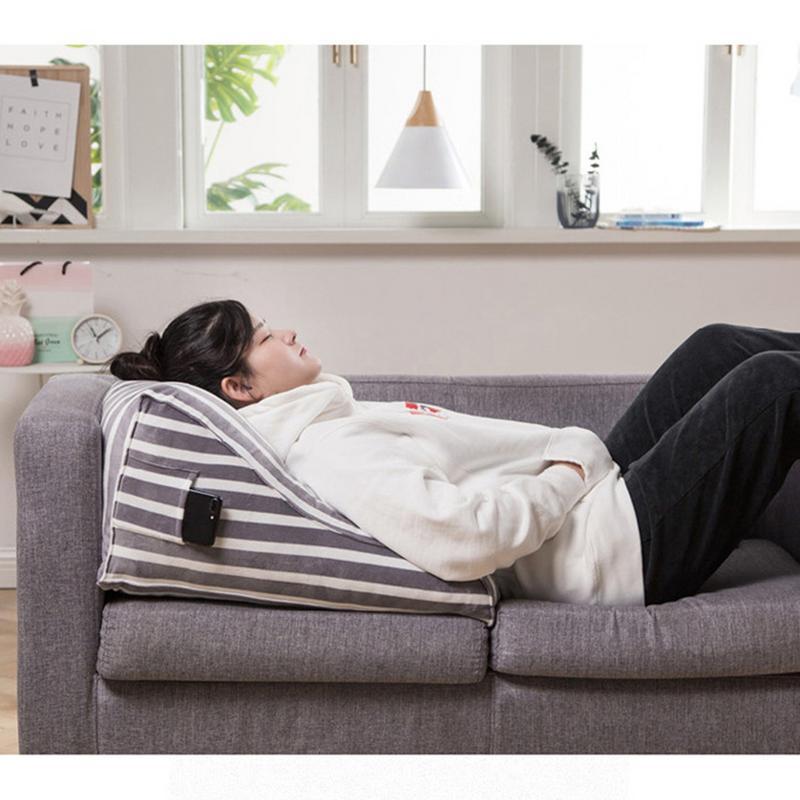 Voiture canapé dossier triangulaire coussin lit Tatami oreiller lombaire avec oreiller intérieur bureau taille stéréo coussin