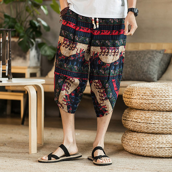 2019 Summer New Fashion Cartoon Main Push Seven Part Pants Increase Fertilizer sea shorts masculino Hip Hop Free shipping