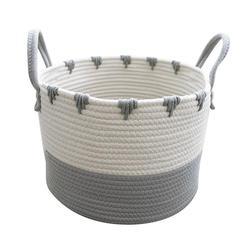 Kosz do przechowywania duże bawełniane liny proste Home Chevron szary tkane zabawki wykończenie kosz na bieliznę kosz do przechowywania kosz na pranie na pieluchy