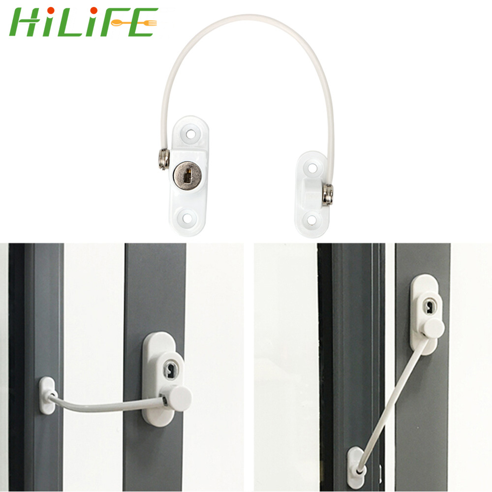 HILIFE Window Restrictor Child Safety Doors Lock Door Window Security Lock Safety Device Stainless Steel 180mm LimitHILIFE Window Restrictor Child Safety Doors Lock Door Window Security Lock Safety Device Stainless Steel 180mm Limit