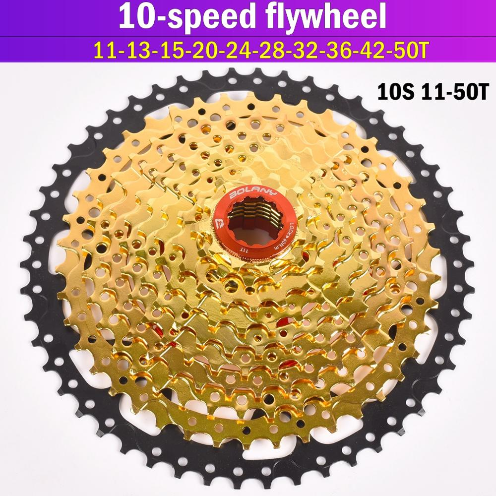 Gold Bolany 10S 30S Speed 11 50T 42T Freewheel Wide Ratio Bike Mountain Bicycle Flywheel Cassete