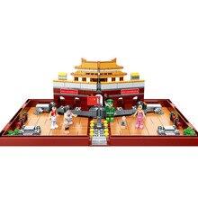 цена на Folding Beijing Tiananmen Girls Building Blocks Compatible Legoings Collect Storage Box Educational Toys For Children