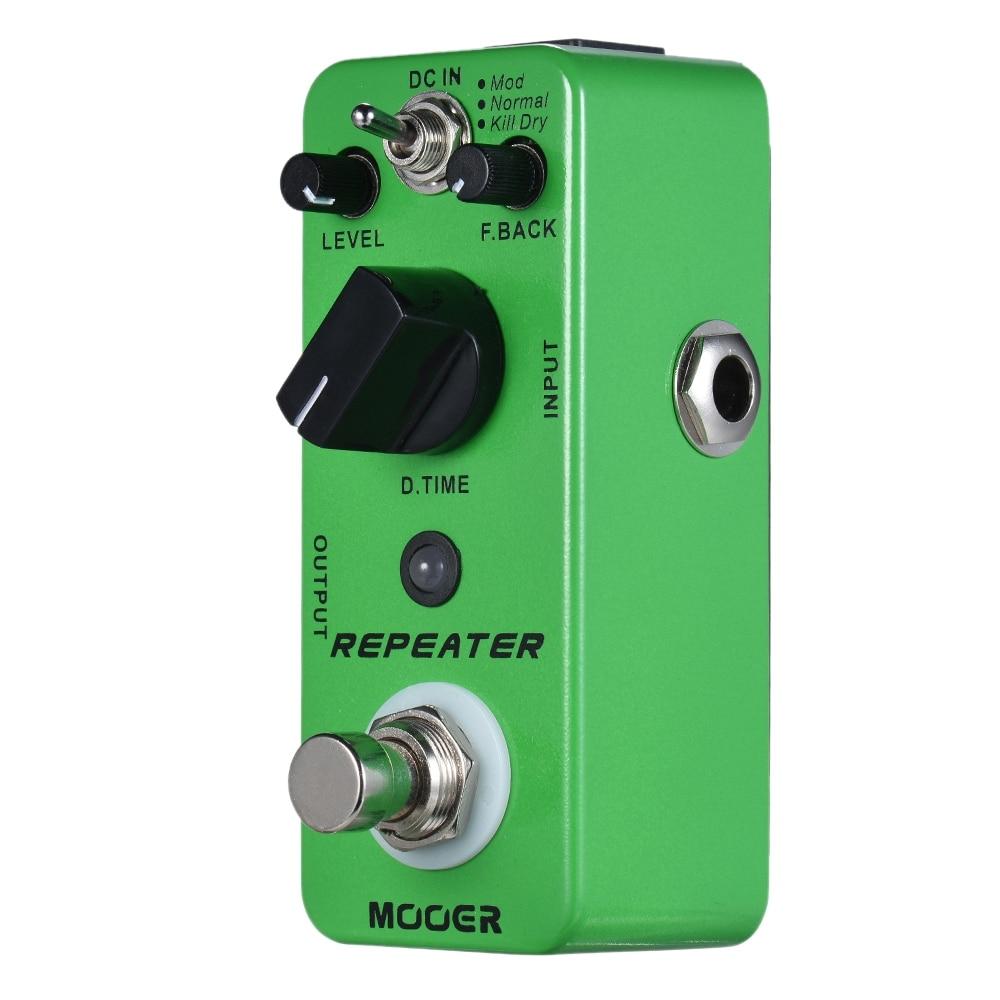 MOOER Repeater Digital Delay Guitar Effect Pedal 3 Modes True Bypass Full Metal ShellMOOER Repeater Digital Delay Guitar Effect Pedal 3 Modes True Bypass Full Metal Shell