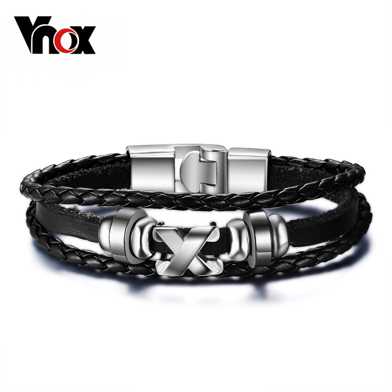 Promotion men bracelet bangle leather jewelry stainless steel clasp fashion accessories wholesale  Браслет