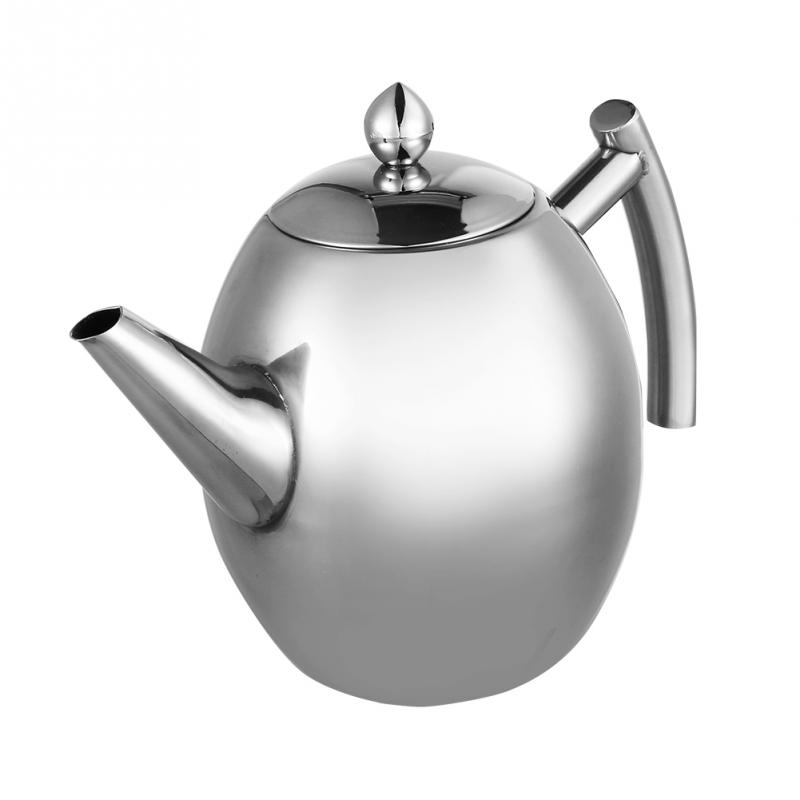 1000/1500ML Stainless Steel Teapot Coffee Pot Water Kettle With Filter Large Capacity