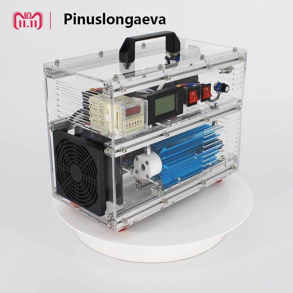 Pinuslongaeva 6SQY acrílico shell máquina de ozônio para o ar ou a água 500 mg 1 3 5 7 10 g/h 10 gramas ajustável ozonizador ozonizador