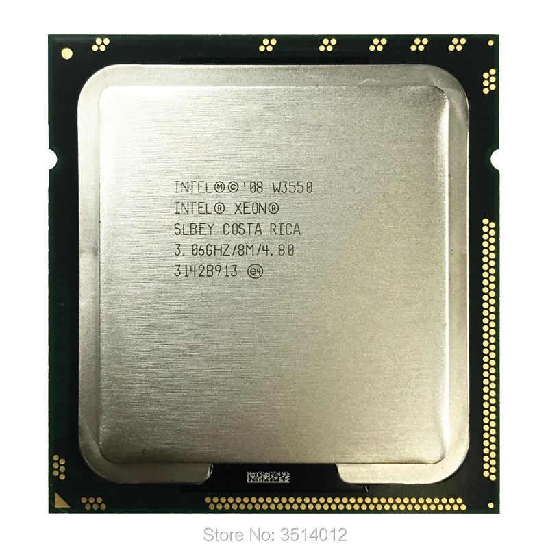 إنتل سيون W3550 3.0 GHz رباعية النواة ثمانية موضوع معالج وحدة المعالجة المركزية 8M 130 واط LGA 1366