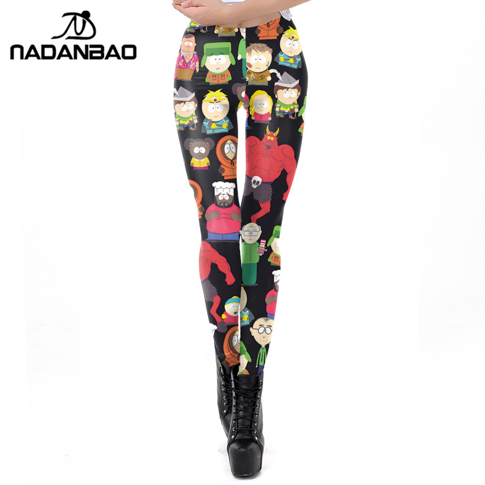NADANBAO New Arrival Women Legging Cartoon Pattern 3D Printing Leggings Fitness Workout Leggin For Girl Plus Size Pants