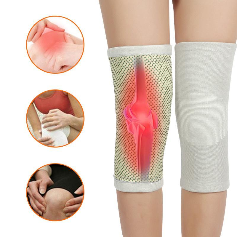2 pcs Health Care Tourmaline Self-Heating Knee Pads Far Infrared Magnetic Therapy Spontaneous Heating Pad L3