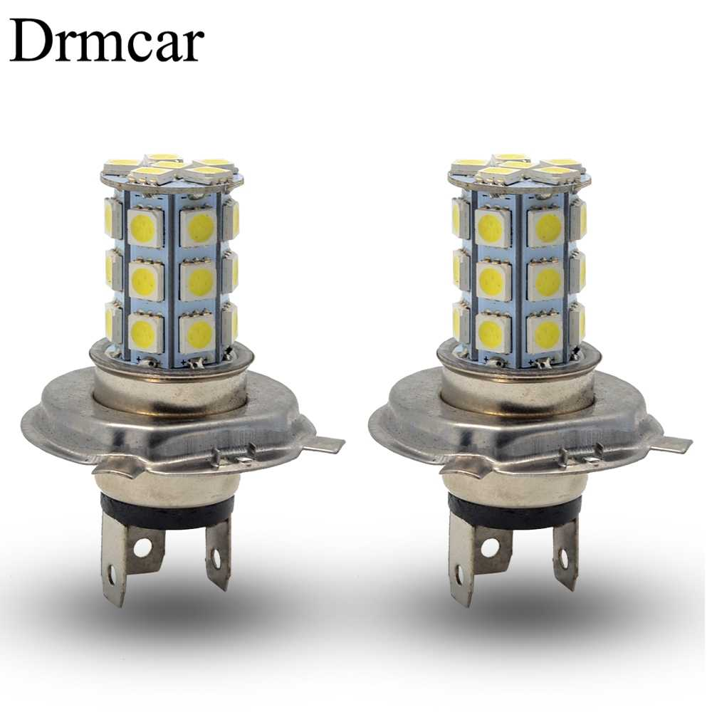 1pcs H4 Car Moto Motorcycle Led Fog Lamps HeadLamp 5050 27Led Pure Auto Light Headlight Parking Driving Lamp Bulb Dc 12v